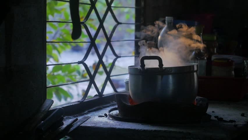 smoke in kitchen while cooking