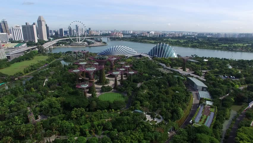 singaporesingapore october 15 2016 aerial view of garden by the bay