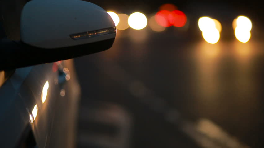 Light machine with the included emergency light signal . night city with cars. | Shutterstock HD Video #24545246