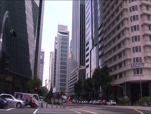 Shenton way's traffic in Singapore 2 | Shutterstock HD Video #246121