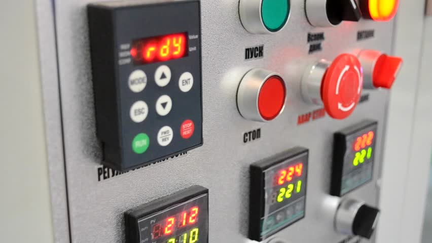 Control Panel Production. Indicators Of A Part Of The Line ...
