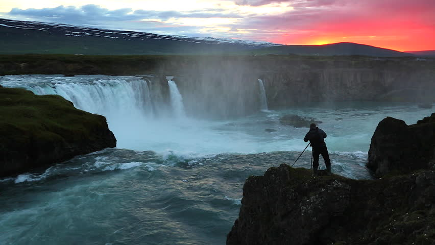 The rapid flow of water powerful Godafoss cascade. Popular tourist attraction. Unusual and gorgeous scene. Location place Bardardalur valley, Skjalfandafljot river, Iceland, Europe. Beauty world. | Shutterstock HD Video #24672296