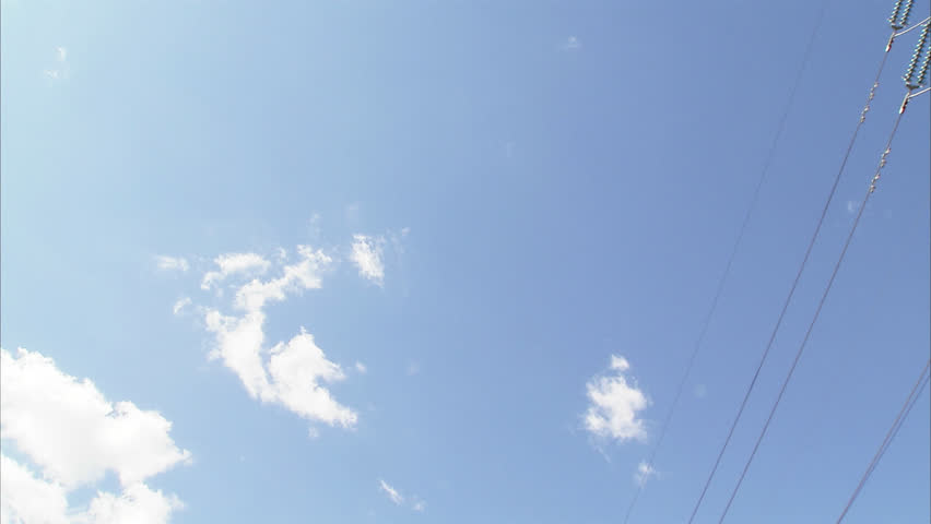 Power pylon against the sky | Shutterstock HD Video #2467886