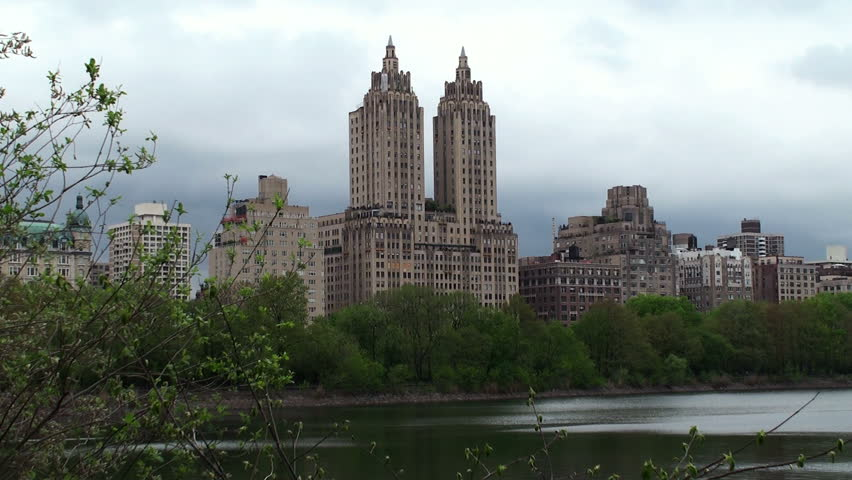 View Central Park West From Central Park New York City Stock