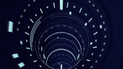 Looping Data tunnel.Fast motion animation.Sci fi futuristic hud Tunnel. Good for infinity background screensaver.Technology News intro and opener.