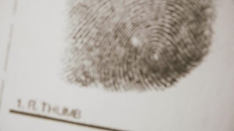 Investigate fingerprints. Macro shot.