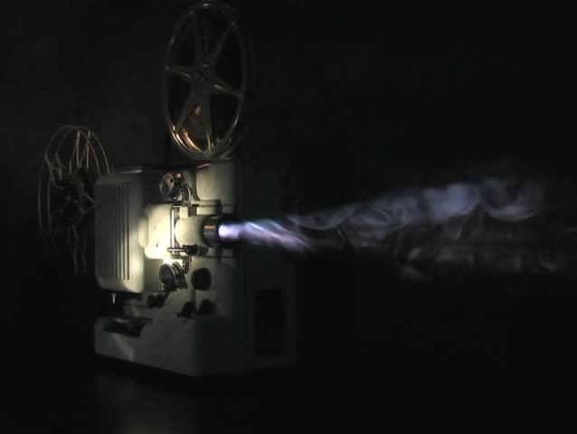 PROJECTOR IN SMOKEY ATMOSPHERE