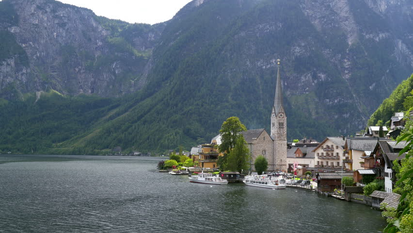 Beautiful timelapse vide of the amazing Hallstatt village and Lake Hallstatt in Hallstatt-Dachstein Salzkammergut, Upper Austria