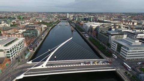 Dublin Liffey by Drone.