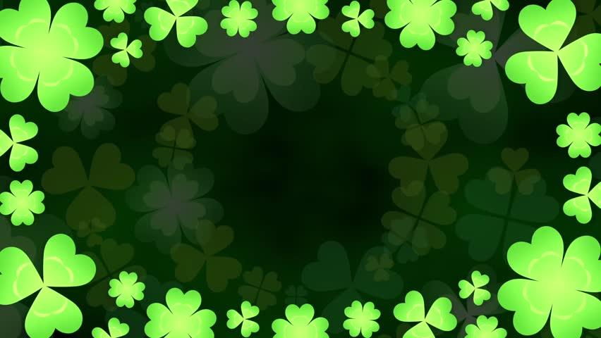 Clover frame loop 2 pattern dark background | Shutterstock HD Video #24889949
