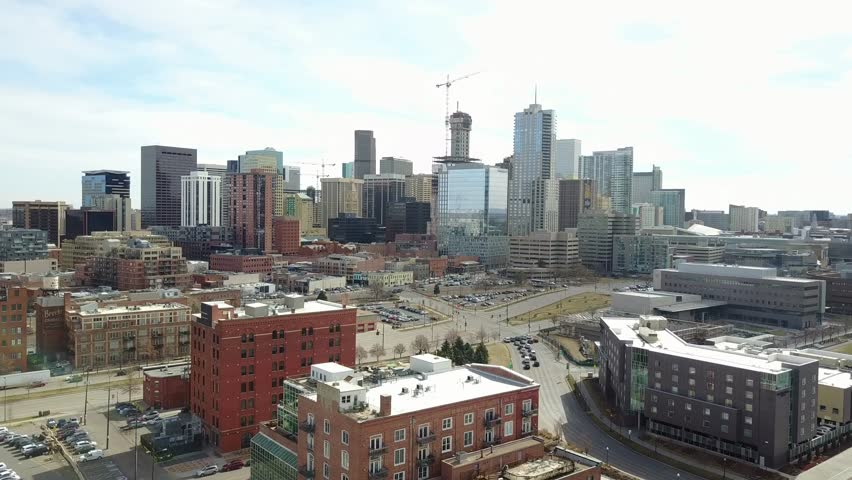 Aerial View of Downtown Denver, Colorado