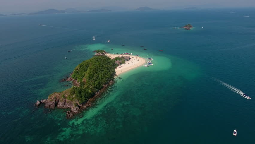 Aerial view of the small island in Indian ocean | Shutterstock HD Video #24919196