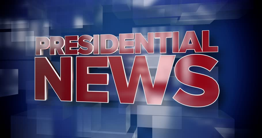 A red and blue dynamic 3D Presidential News title page animation.	 	 | Shutterstock HD Video #24948986
