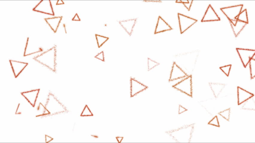 Drawing Triangle Shapes on White Background Animation - Loop Red | Shutterstock HD Video #24954116