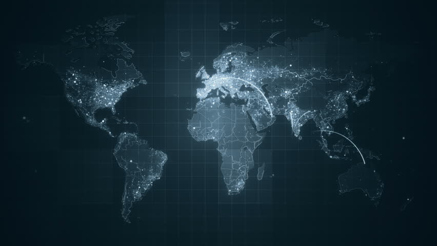 World Map Simple Animation Of The Earth Continents With Modern - Modern world map