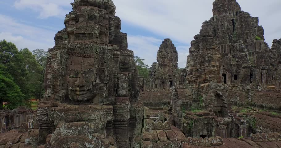 Aerial Angkor Wat Temple Bayron  | Shutterstock HD Video #25026086