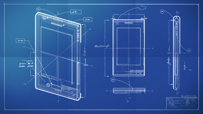 Graphic design layout process time lapse blueprint stock footage smart phone blueprint hd stock footage clip malvernweather Gallery