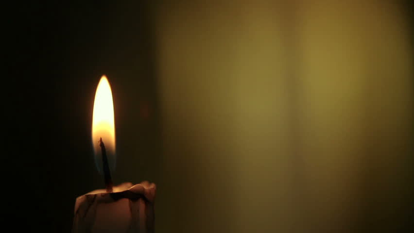 Candle lights up and being blown out slowly | Shutterstock HD Video #2508821