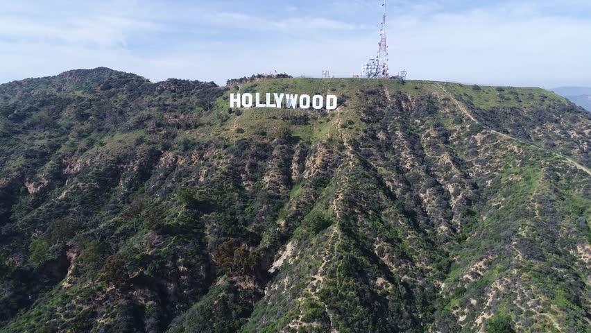 Hollywood Sign Aerial Shot / Los Angeles / 03.15.2017