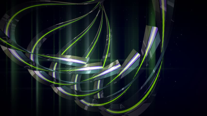 Green Light Effects Stock Footage Video: Footage Looping Abstract Background Green Light Effects