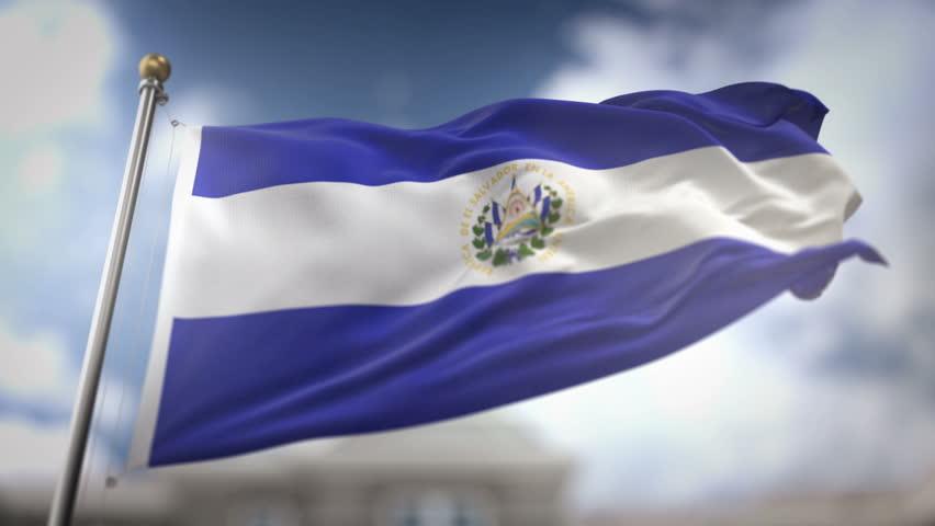 El Salvador Flag Waving Stock Footage Video 2849245 ...