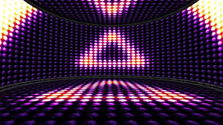 Dj Disco Stage Virtual Set Animation With Alpha For Key
