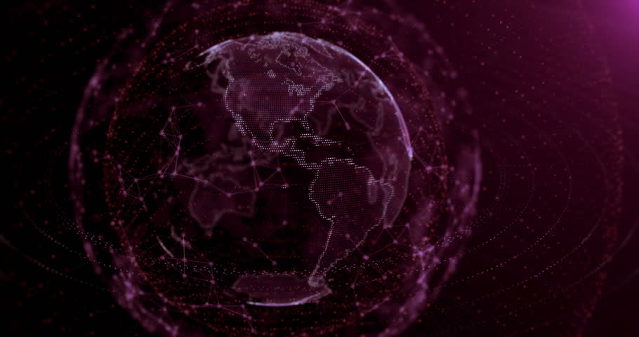 A digital planet earth. (Series of 3D animations) | Shutterstock HD Video #25128326