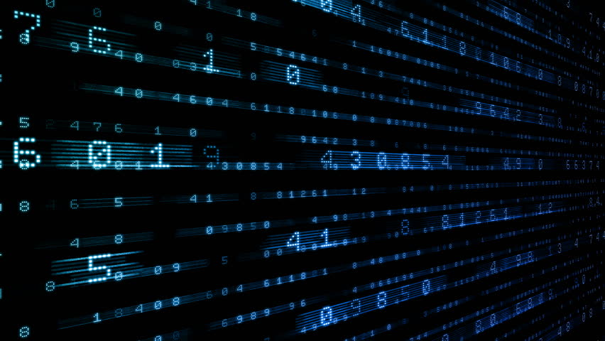 Digital world data space number text. | Shutterstock HD Video #25142936