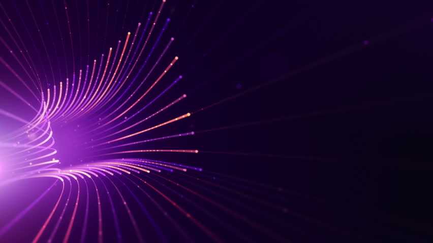 Abstract background with animation moving of lines for fiber optic network. Magic flickering dots or glowing flying lines. Animation of seamless loop. | Shutterstock HD Video #25151726