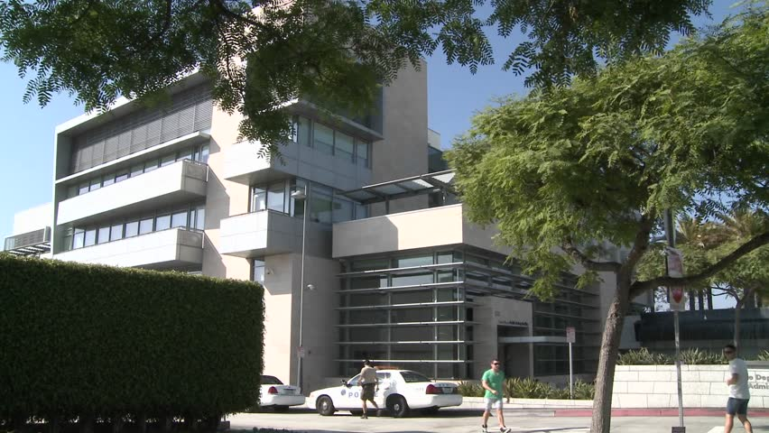 LOS ANGELES - CIRCA 2010 - A police station near Century City in Los Angeles.