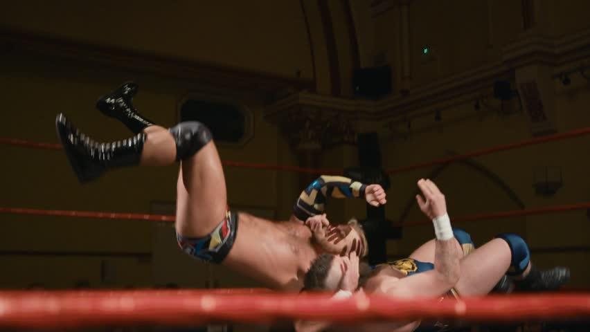 Wrestling Match (Slow Motion) Suplex in Ring