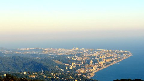 View from Mount Akhun Sochi, Russia.