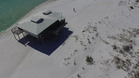 Beach Hut. Drone