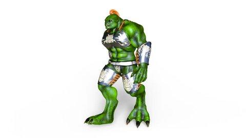 3D CG rendering of a walking monster
