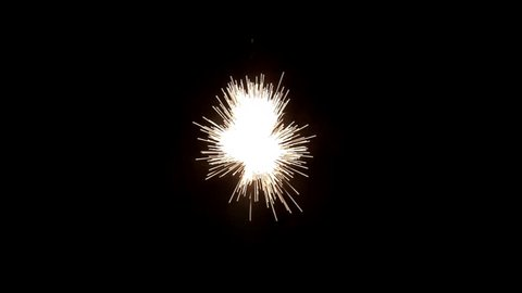 6 clips of white sparks bursts