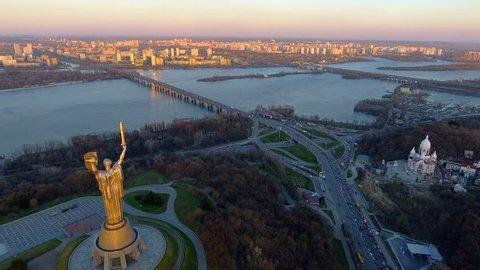 Kiev City - the capital of Ukraine. Kyiv. Mother Motherland