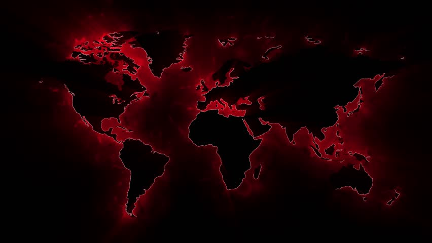 Loop animation of an illuminated world map a network of lines animated world map background 4k stock video clip gumiabroncs Images