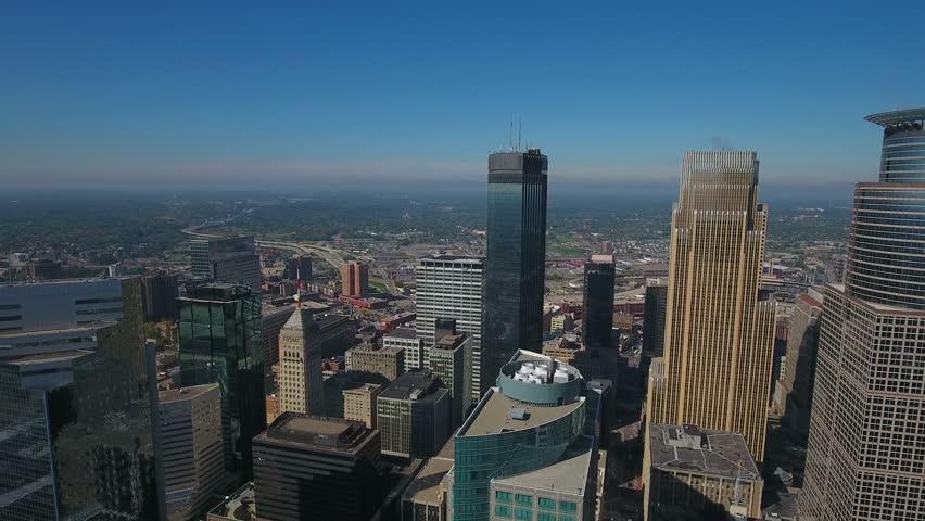 Aerial Minnesota Minneapolis September 2016 4K | Shutterstock HD Video #25440776