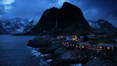 Hamnoy at spring night, Lofoten islands, Norway