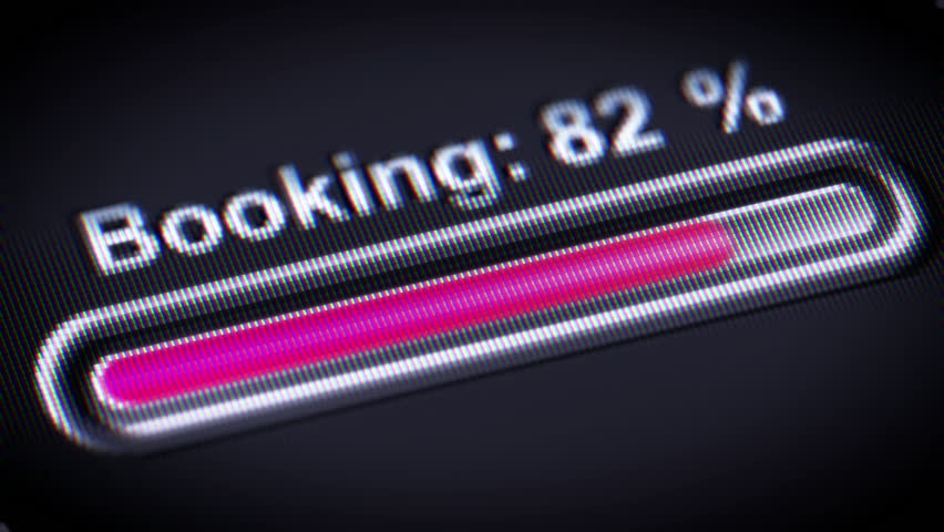 Process of Booking on a screen.