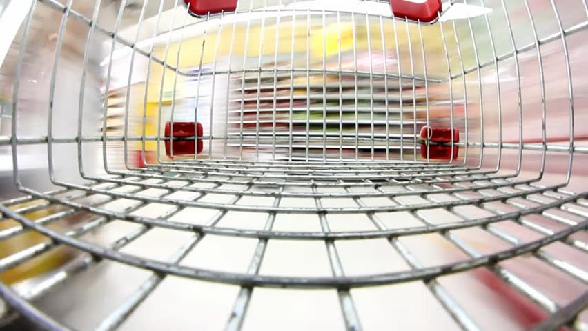 Supermarket shopping time lapse shopping trolley | Shutterstock HD Video #2552156