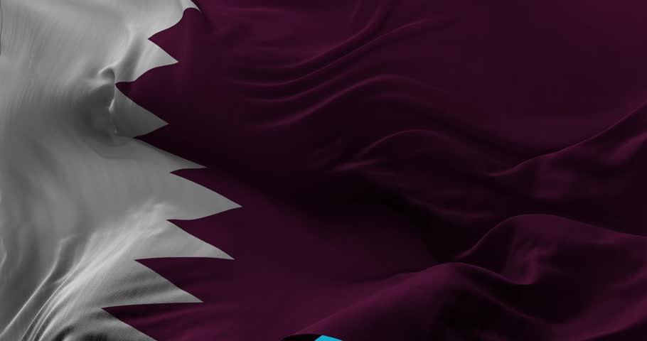 National Flag of  Qatar waving in the wind slow motion Seamless Loop Animation | Shutterstock HD Video #25532216