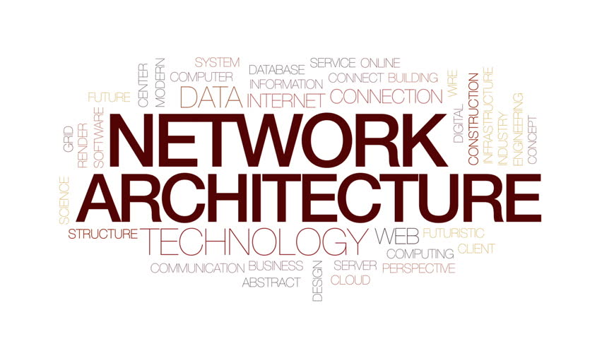 Network architecture animated word cloud, text design animation. Kinetic typography. | Shutterstock HD Video #25567346