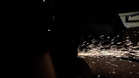 Real sparkling particles in the dark in slowmotion