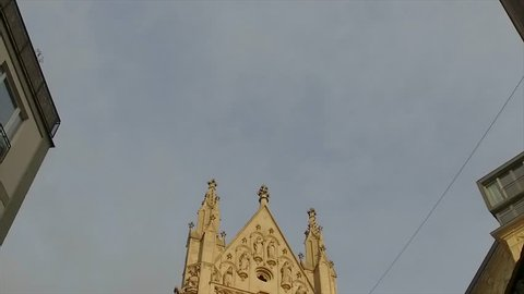 Church in Vienna in the blue sky background.