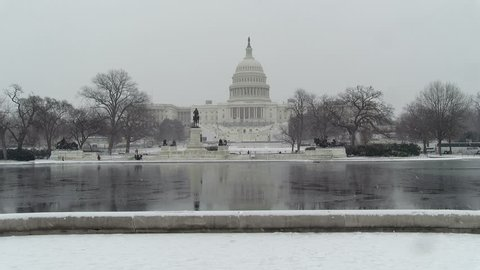 The U.S. Capitol Building is seen as a winter storm hit much of the East Coast Jan. 7, 2017 as the District was preparing for the inauguration of President-elect Donald Trump. .