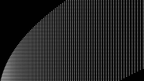 dot motion look like a line curve graphic color black & white. 4K resolution.