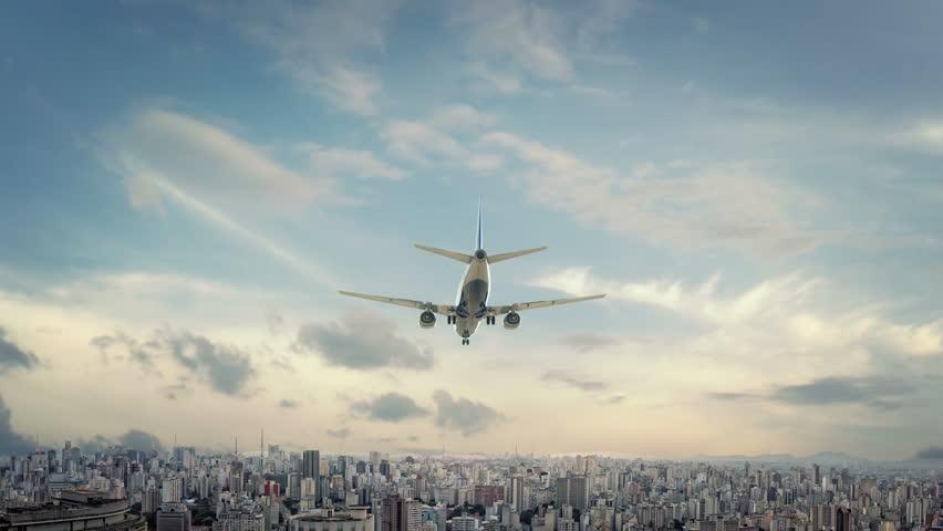 Airplane Landing Sao Paulo Brazil