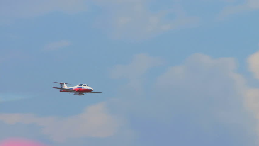 QUONSET, RHODE ISLAND - CIRCA JUNE 2012: Canadian Snowbirds Demonstration Team - 10
