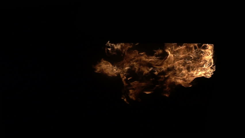 Doorway in the fire. Real doorway in the fire on black background. Slow motion.    Shutterstock HD Video #25765766